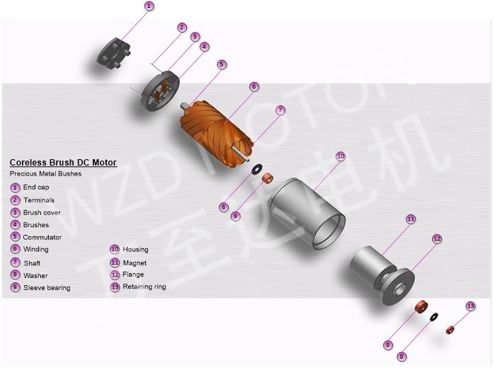 空心杯电机的结构